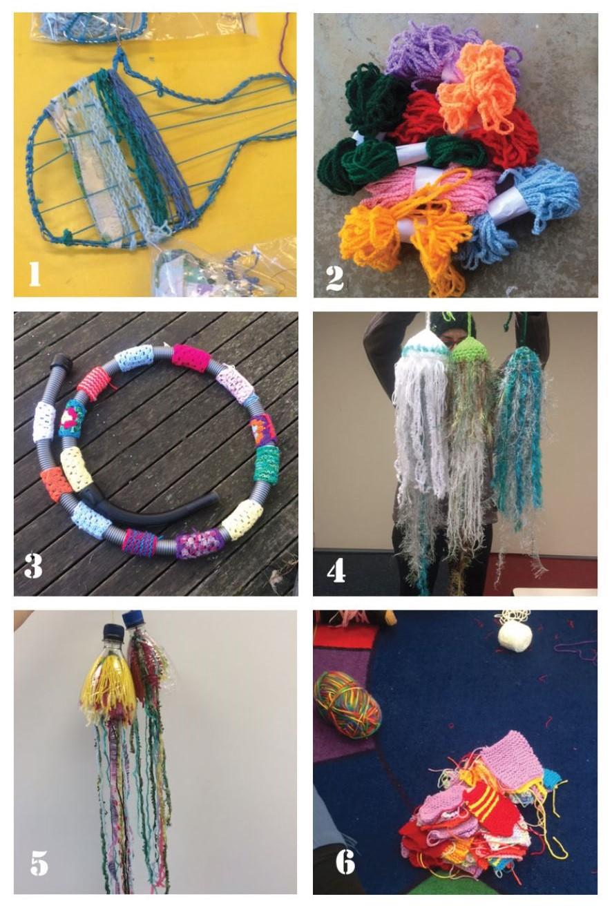 Yarn Art Project Update 6 pics
