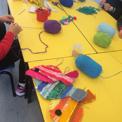 Yarn Art - Making fish in Yarn Club
